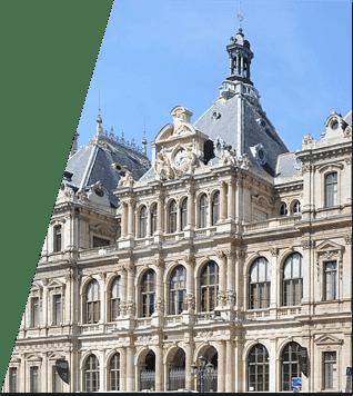 Photo d'un immeuble en presqu'ile de Lyon